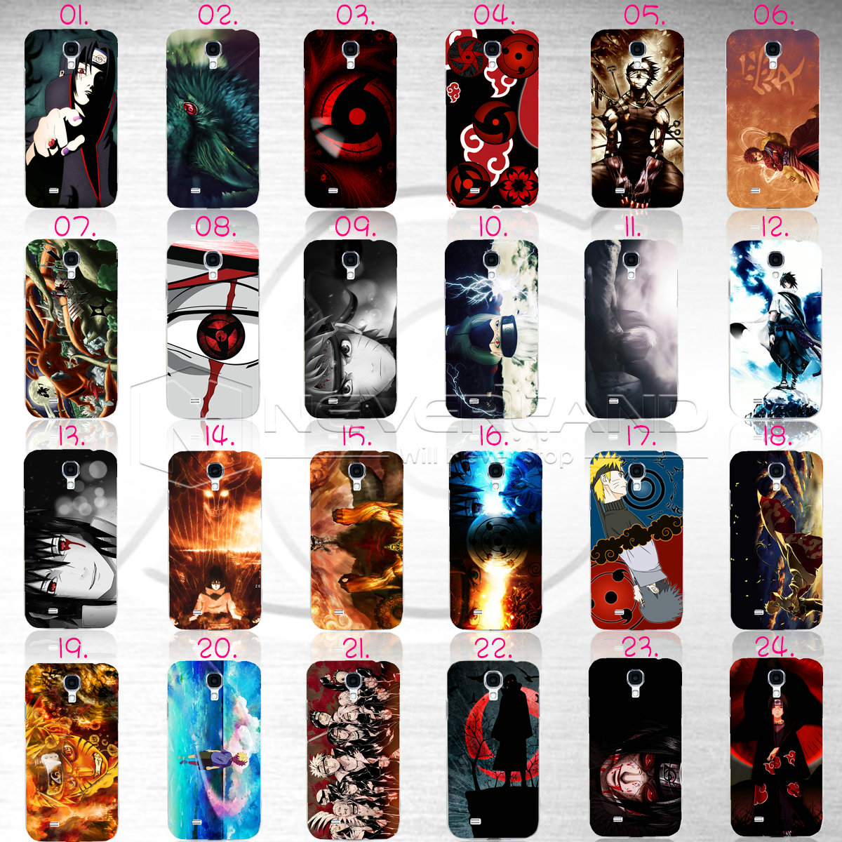 Classic Lens Anime Naruto Pattern Hard Phone Case Cover ...