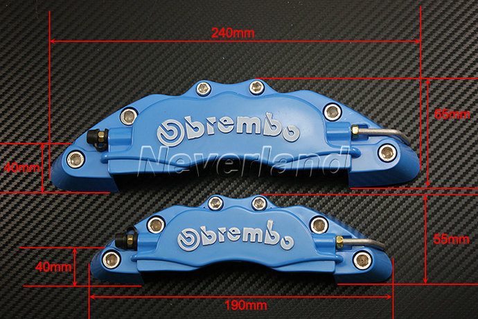 Plastic Measuring Caliper Covers : New brembo disc brake caliper covers front rear set
