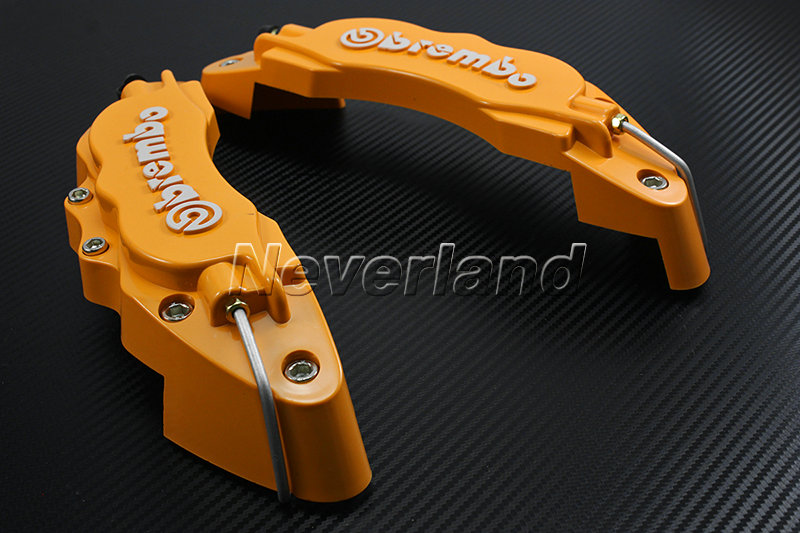Plastic Measuring Caliper Covers : Pcs car universal front disc brake caliper covers brembo