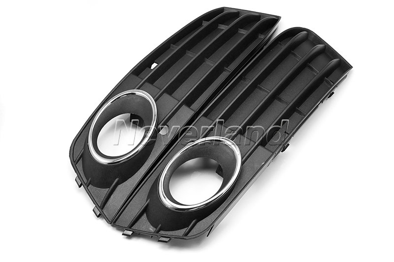 2x front bumper fog light grilles cover non sline fit audi. Black Bedroom Furniture Sets. Home Design Ideas