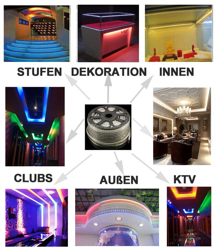 5 50m 5050smd led strip lichtschlauch lichterkette au en innen lichtfarbe ip65 ebay. Black Bedroom Furniture Sets. Home Design Ideas