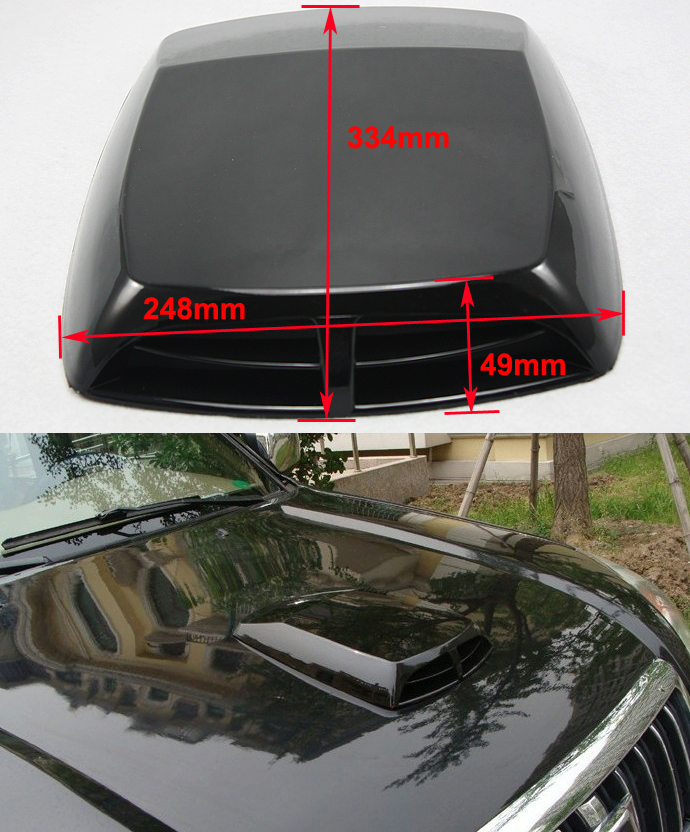 Air Scoops For Cars : Universal car decorative air flow intake scoop turbo