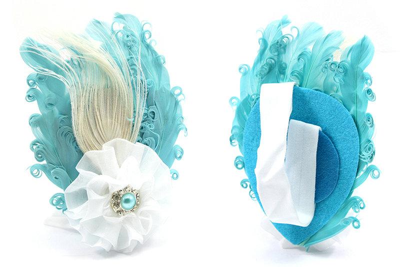 baby infant headband bow peacock flower headwear hair baby infant toddler headband peacock feather flower