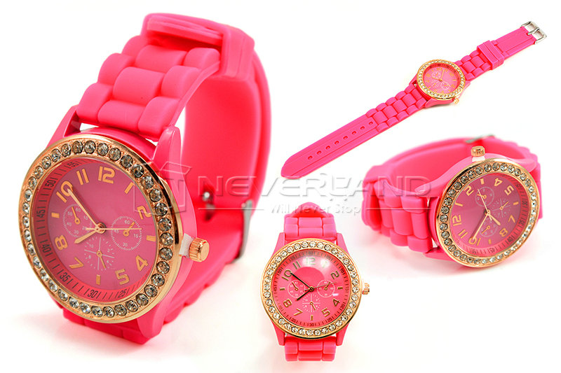 Fashion-JELLY-GIRLS-GENEVA-WOMENS-CHILD-CHILDREN-CRYSTAL-LADIES-WATCH-SILICONE