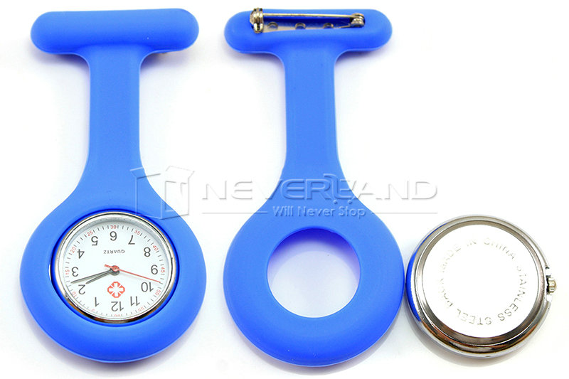 New 12 Colors 1Pcs Fashion Silicone Brooch Tunic Fob Pocket Nurse Watch Watches