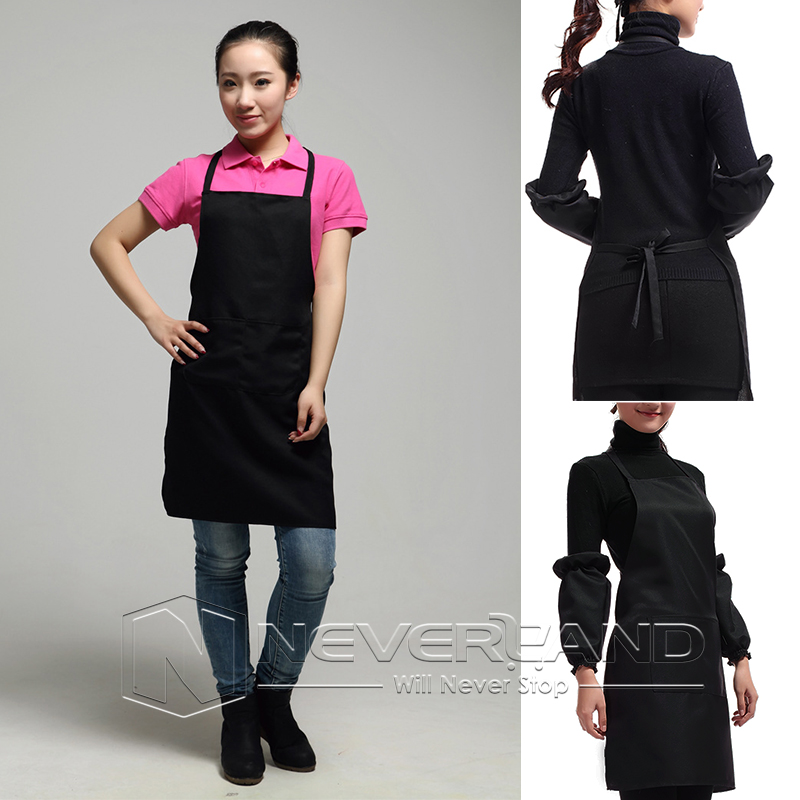 tablier de cuisine blouse v tement restaurant caf bar apron poche homme femme ebay. Black Bedroom Furniture Sets. Home Design Ideas