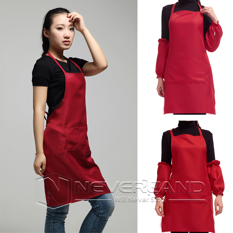 Apron Front : New-Plain-Apron-Cooking-Craft-Chefs-With-Front-Pocket-Butchers-Kitchen ...