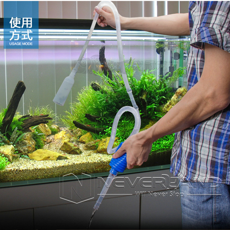1 8m aquarium fish tank vacuum gravel cleaner water syphon for How to keep fish tank clean without changing water