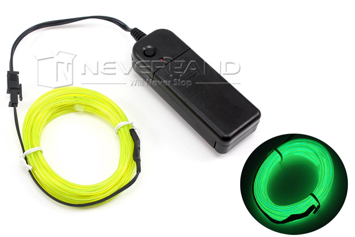 1M/3M/5M EL Kabel Draht Neon Licht Effekt 12V Lichtschnur ...