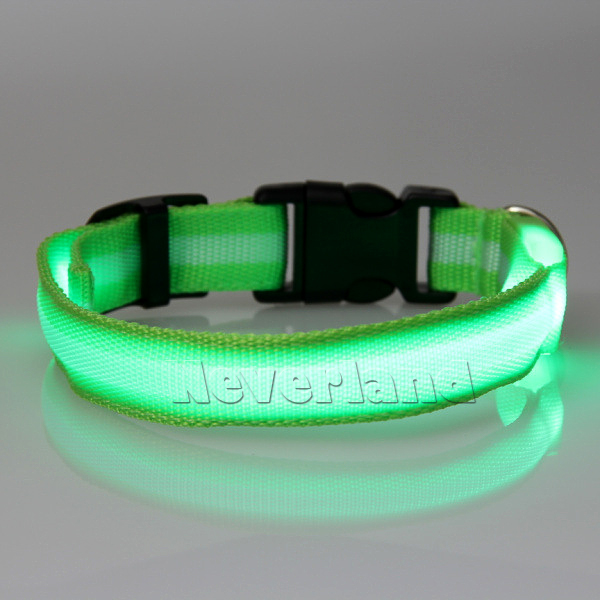 Led Light Up Dog Pet Night Safety Collar Bright Flashing