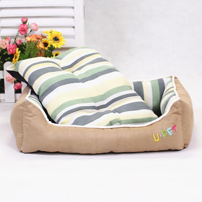 3 Color Pet Dog Puppy Cat Fleece Warm Bed Cushion Cozy Nest Mat Pad Brown Beige