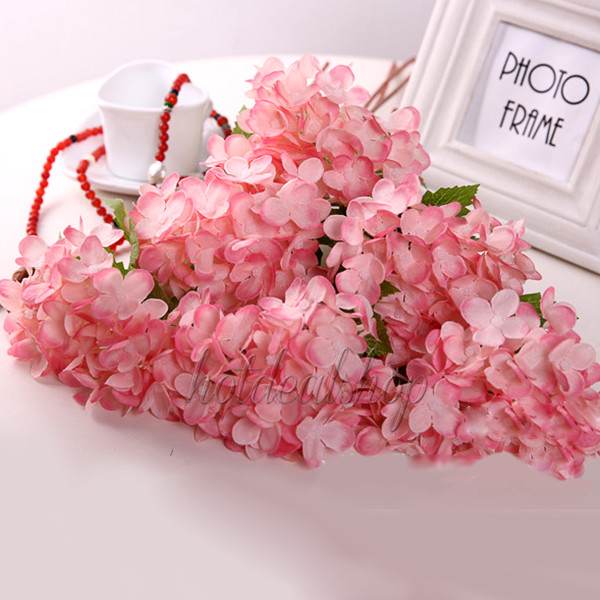 Artificial Craft Hydrangea Bouquet Party Home Wedding Fake Bridal Silk Flowers