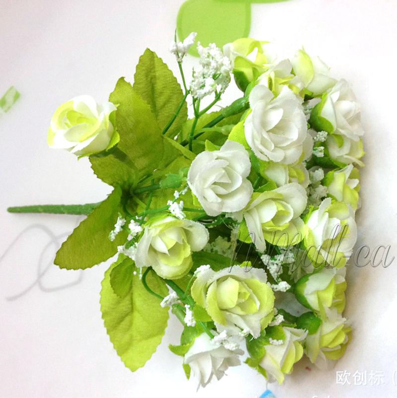 21 k pfe strau rose blumen kunstblumen seidenblumen floristik innendeko deko ebay. Black Bedroom Furniture Sets. Home Design Ideas