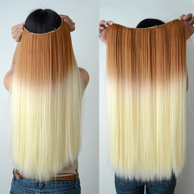 One Piece Clip In Hair Extensions Dip Dye - Indian Remy Hair