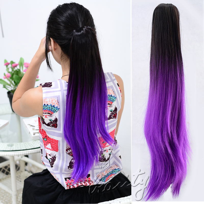 Purple Ponytail Hair Extension Prices Of Remy Hair