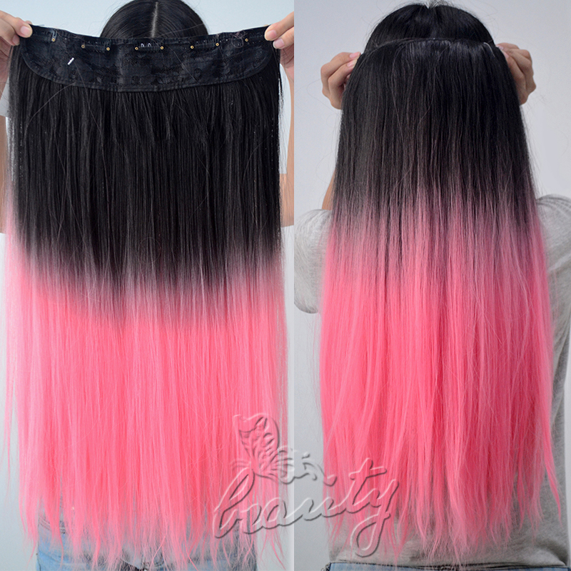 "14"" 14"" 14"" BALAYAGE WOMNE TWO TONE CLIP IN OMBRE CURLY STRAIGHT ..."