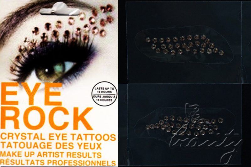 New eye rock crystal temporary eye make up tattoo transfer for Crystal eye tattoos