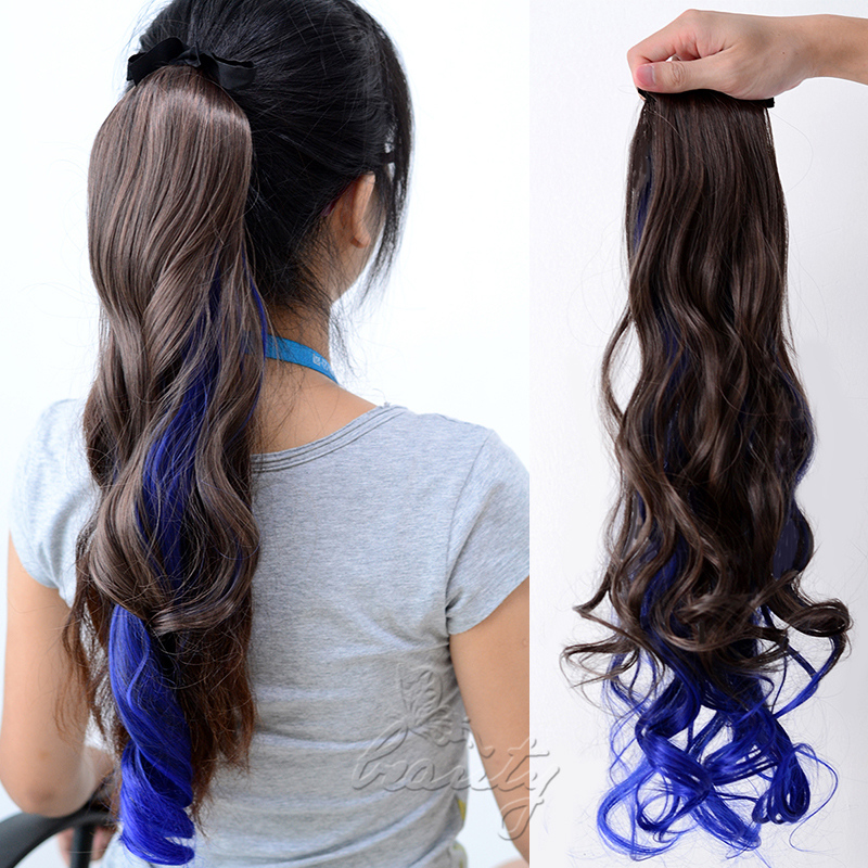 Ombre clip in ponytail pony tail hair extension wrap on hair piece ombre clip in ponytail pony tail hair extension pmusecretfo Images
