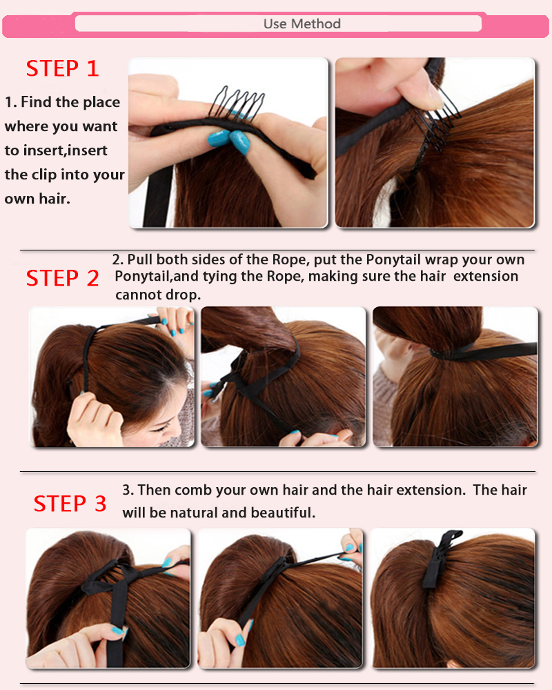 Ombre clip in ponytail pony tail hair extension wrap on hair piece how to care for synthetic hair extensions pmusecretfo Images