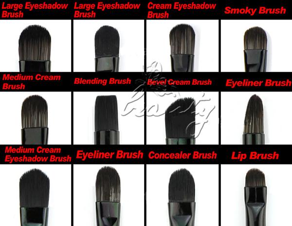 32 tlg profi makeup pinsel set schminkpinsel b rste brush. Black Bedroom Furniture Sets. Home Design Ideas