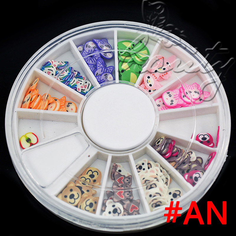 Hot sale 3d nail art rhinestones glitters acrylic tips for 3d nail decoration