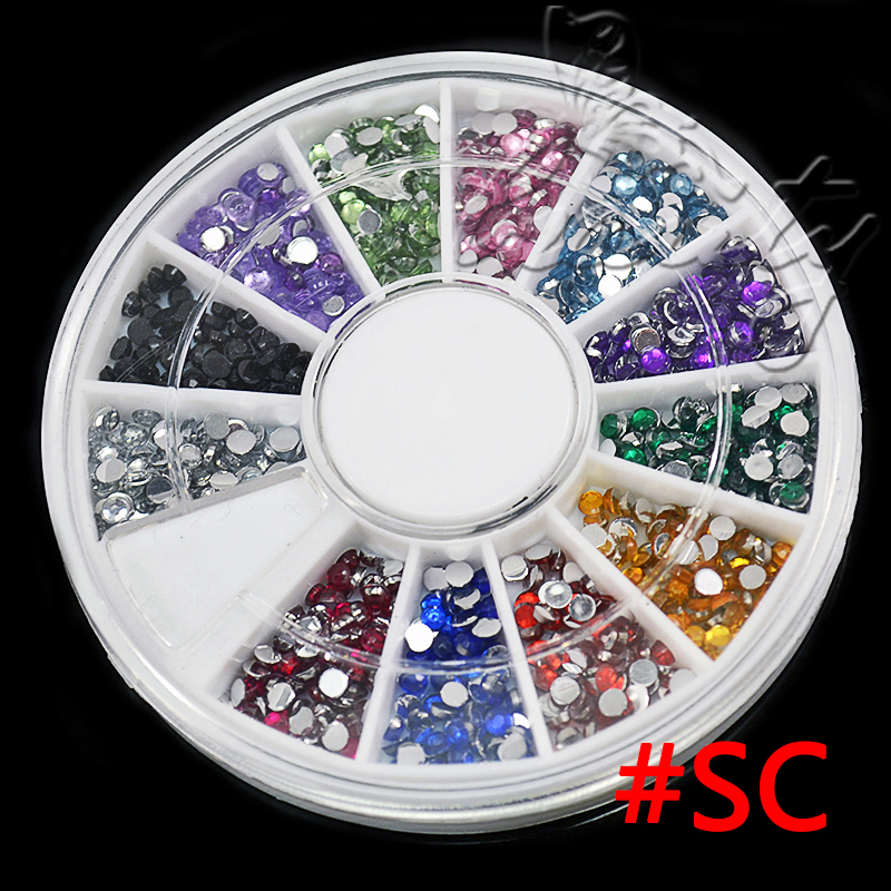 Hot sale 3d nail art rhinestones glitters acrylic tips for 3d nail art decoration