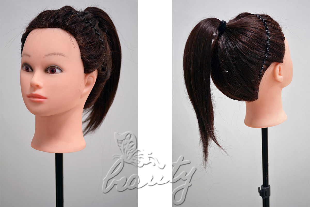 Hair Style Training : 2014 Style Long Hair Hairdressing Training Practice Mannequin Head w ...