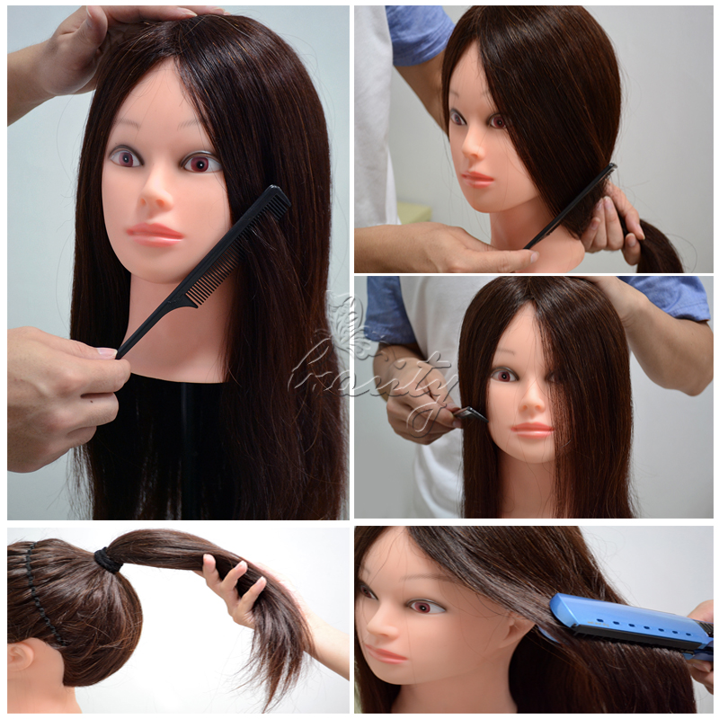 """Various Model 22"""" Cosmetology Mannequin Training Head Doll Head w/ Clamp Holder"""