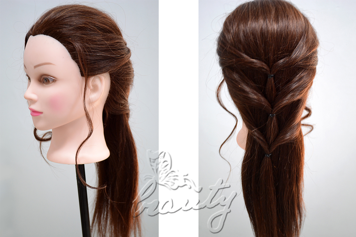 Hair Style Training : 16 Styles Real Human Hair Hairdressing Training Head Mannequin + Free ...