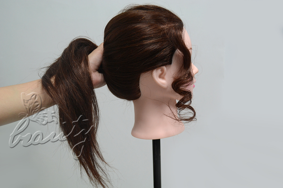 how to cut a fringe on a dolls head