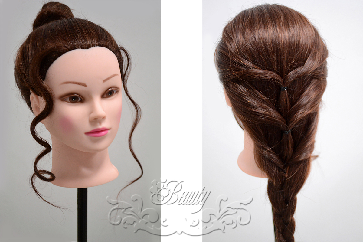 Hair Styling Mannequin Head: Real Human Hair Cosmetology Hairdressing Training Head