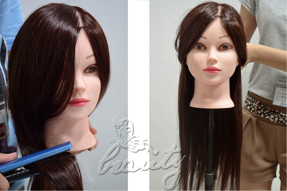 Hair Styling Mannequin Head: NEW STYLE 50% Real Human Hair Training Hairdressing Head
