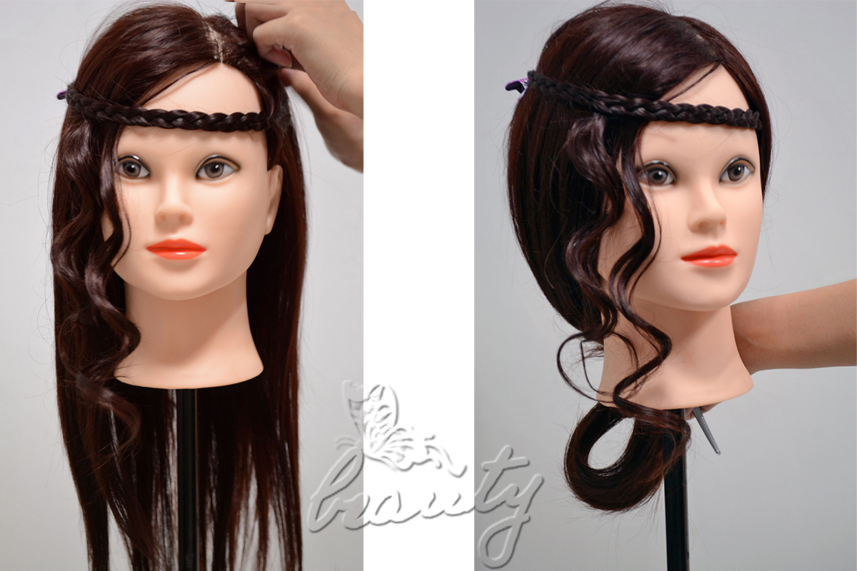Hair Styling Mannequin Head: All Styles Real Human Hair Salon Hairdressing Training